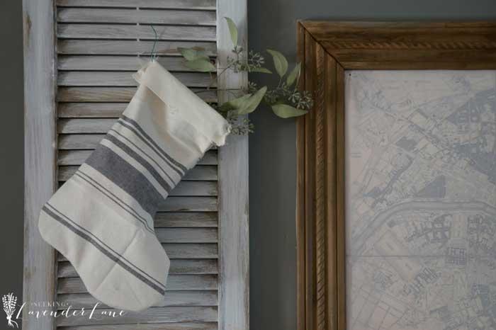 diy rustic dish towel stocking