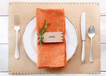 thanksgiving crafts: kraft paper placemat