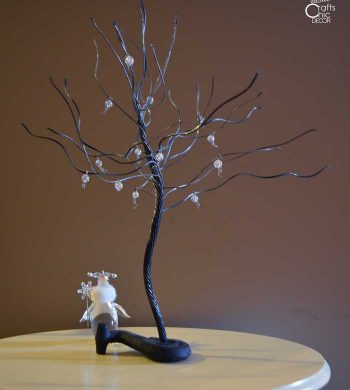diy winter cable tree