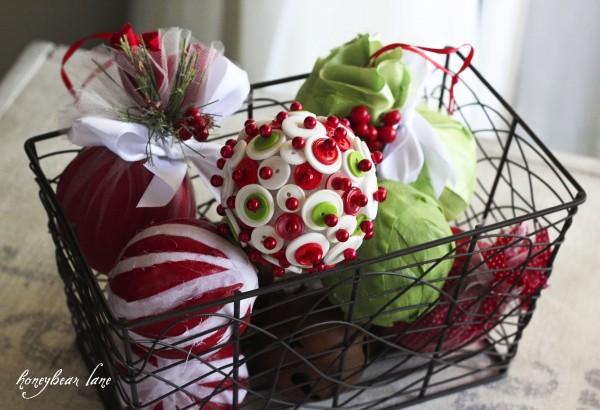 DIY decorated Christmas balls