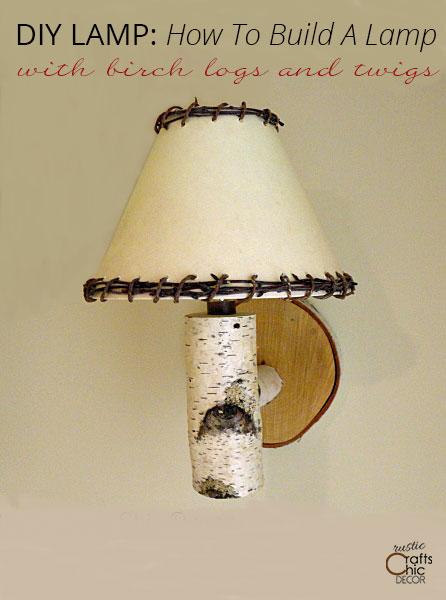 DIY lamp sconce