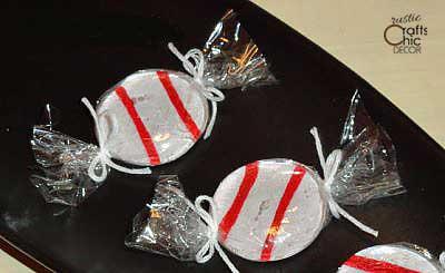 faux peppermint candies