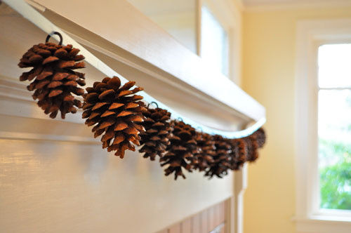 pine cone garland diy