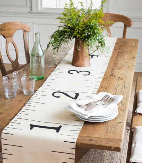 DIY ruler table runner