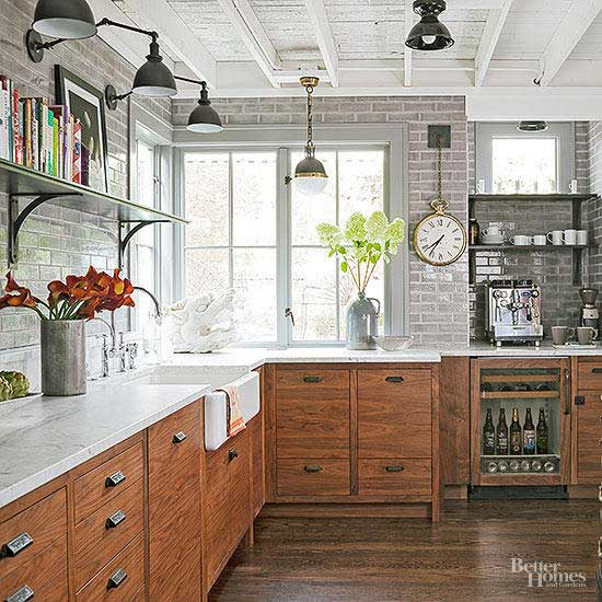 rustic industrial kitchen