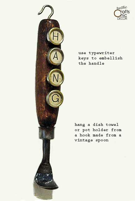 silverware crafts - vintage spoon hook