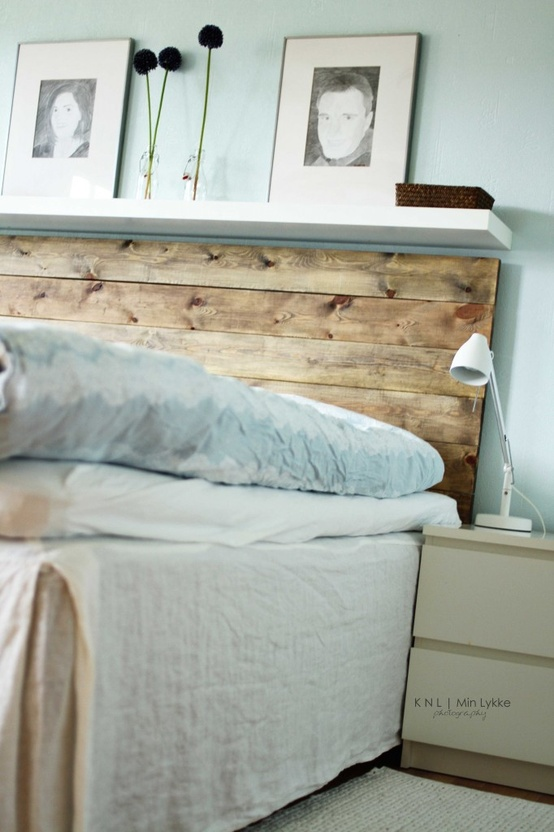 DIY headboard ideas -wood headboard