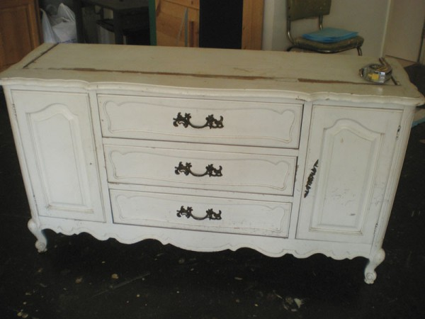 dresser makeover before picture
