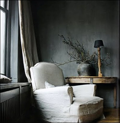 Transitional Rustic Boy Bedroom Ideas Rustic Crafts: grey interior walls
