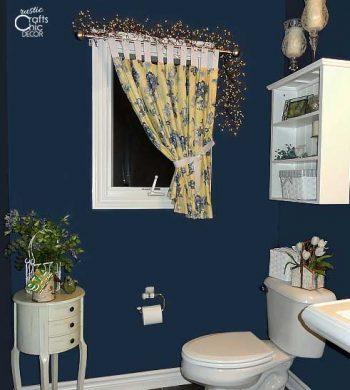 powder room ideas - bold blue powder room