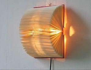 book wall lamp