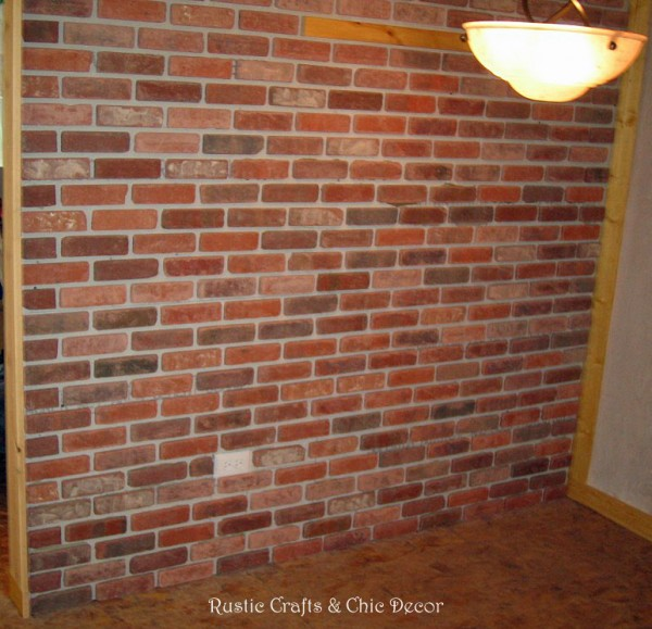 How To Install A Brick Wall Inside The Home Rustic Crafts Chic Decor