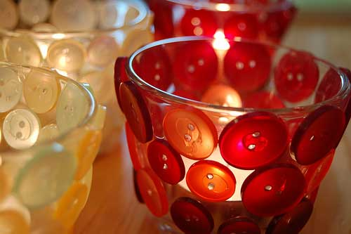 button candle holders
