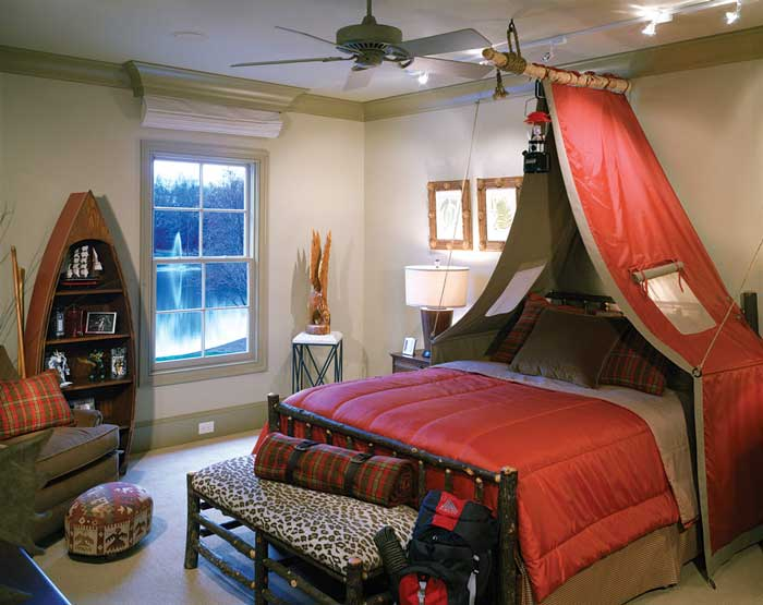camping theme boys bedroom
