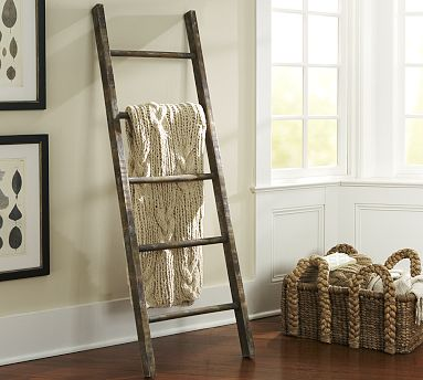 decorating with a ladder