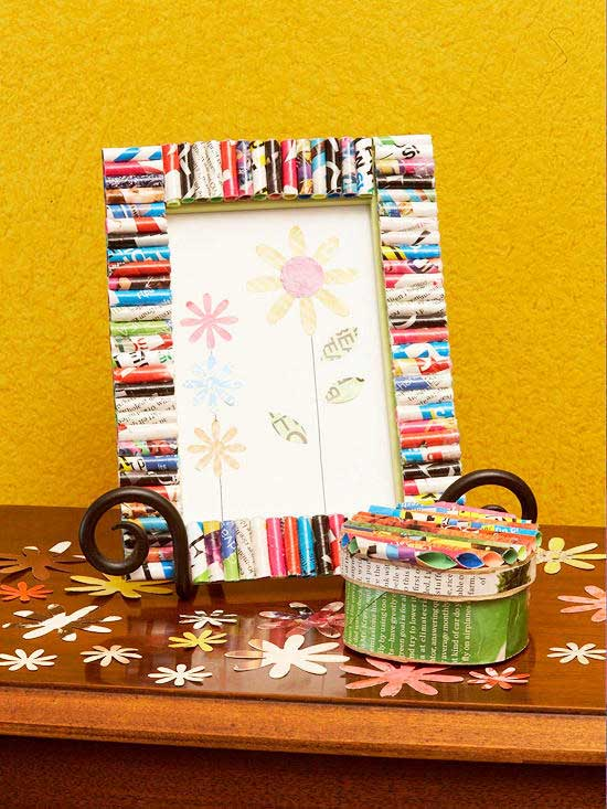 magazine page picture frame