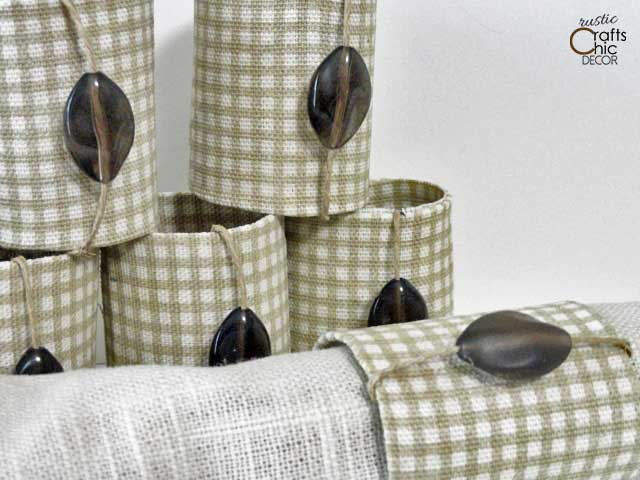 ways to repurpose - napkin rings out of paper tubes