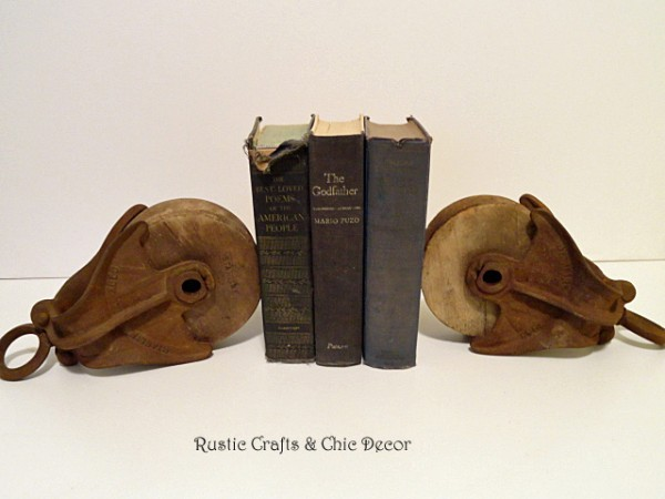 pulley bookends