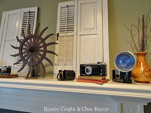 Decorating A Mantel With Vintage And Industrial Treasures Rustic Crafts Chic Decor