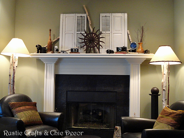 Decorating A Mantel With Vintage And Industrial Treasures
