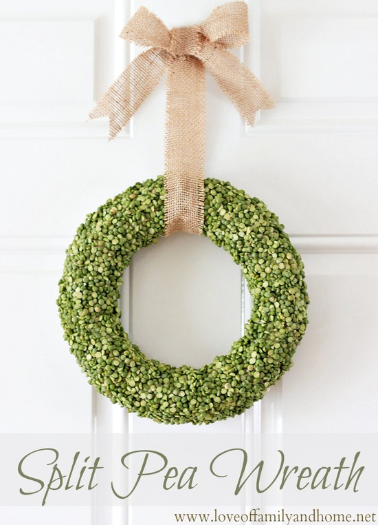 split pea wreath