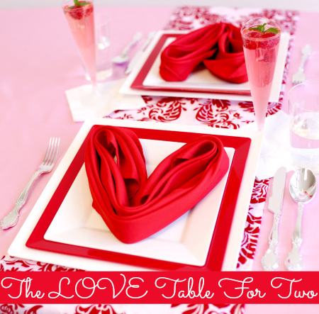 Valentines Day Table Settings For Two | Rustic Crafts & Chic Decor