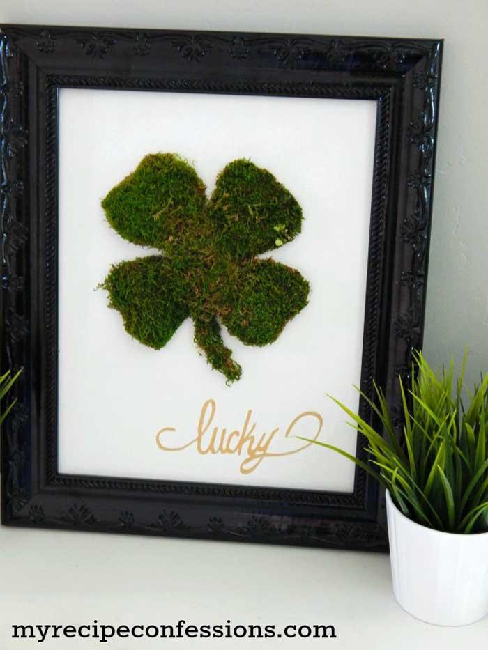 st. patricks day crafts - framed clover