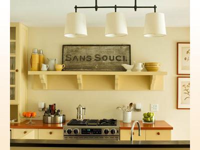soft yellow kitchen