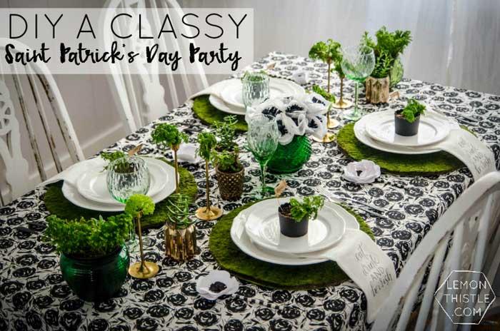 St. Patricks day crafts - dinner party ideas