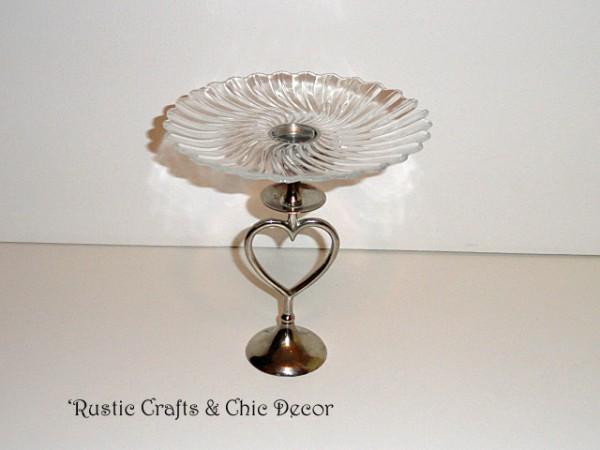 valentine pedestal dish