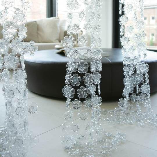 plastic bottle crafts - plastic flowers