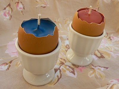 easter crafts - eggshell candles