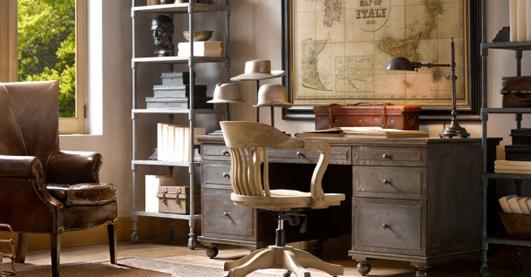 vintage home office for men