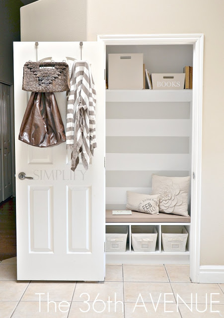 diy closet organization - transform a small closet with shelves, cubbies and a bench
