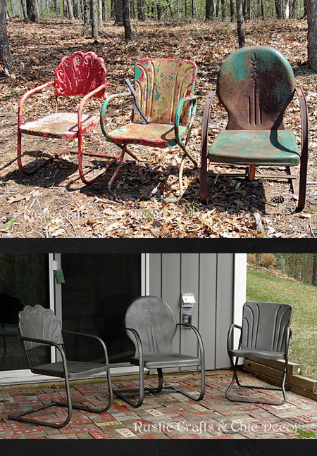 How To Paint Old Amp Rusty Outdoor Metal Chairs Rustic