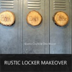 rustic locker makeover