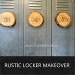 rustic locker makeover