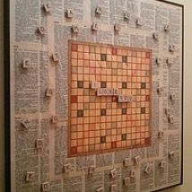 scrabble magnet board