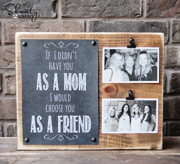 mothers day crafts - photo clipboard DIY