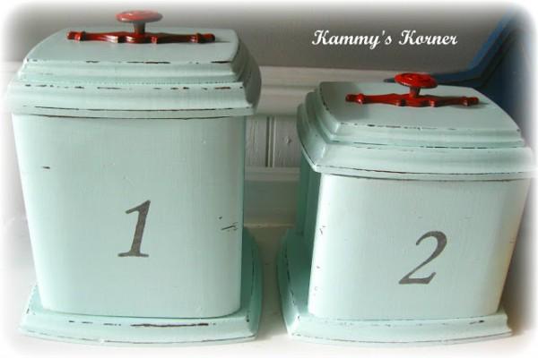 vintage canister makeover