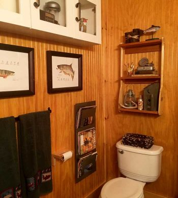 cottage bathroom ideas - rustic cabin