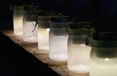outdoor mason jar ideas - diy mason jar solar lights