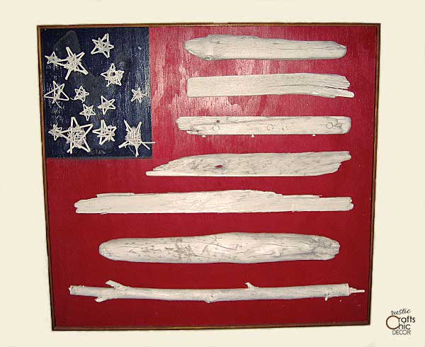 easy Memorial Day crafts - make a driftwood flag