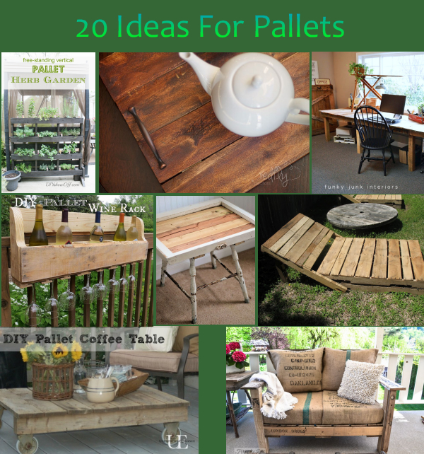 20 diy ideas for pallets rustic crafts chic decor