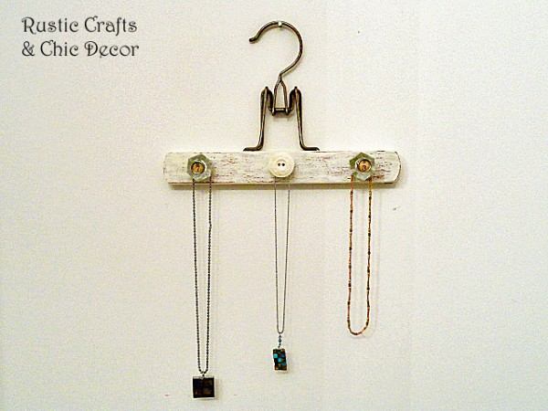 vintage pants hanger jewelry holder by rustic-crafts.com