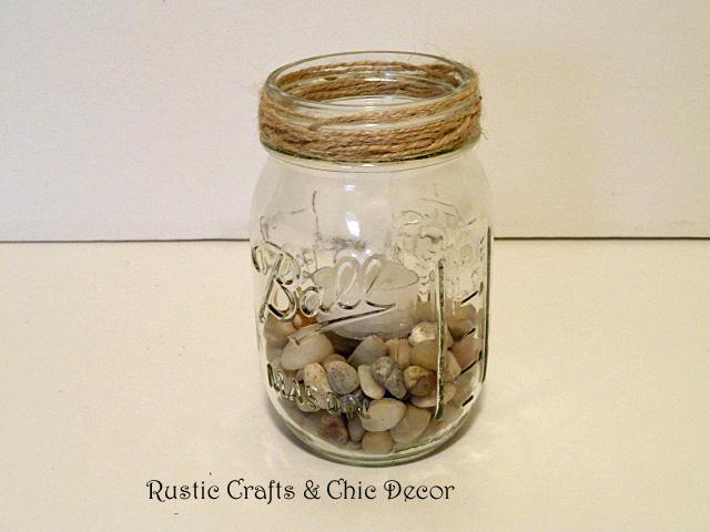 Mason jar crafts for outdoor decor rustic crafts chic for Mason jar candle crafts