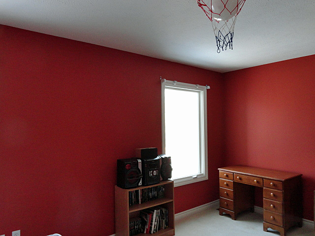 basketball orange bedroom