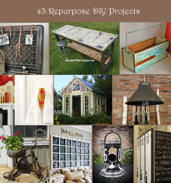43 Repurposed Projects For Home Decor Rustic Crafts Chic Decor