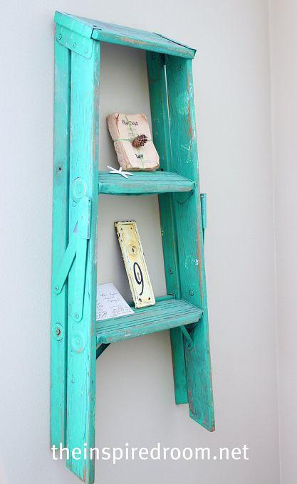 ladder display shelf