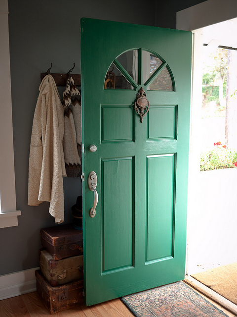 colored front door